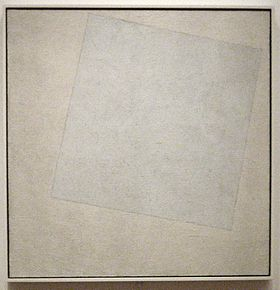 Kazimir Malevich - 'Suprematist Composition- White on White', oil on canvas, 1918, Museum of Modern Art.jpg