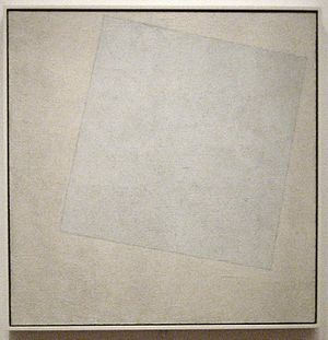 Kazimir Malevich - Suprematist Composition: White on White, 1918, Museum of Modern Art, New York