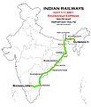 Kaziranga Express (Guwahati - Bangalore) Route map.jpg