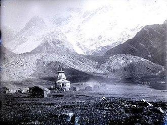 Kedarnath - Image: Kedarnath in 1860
