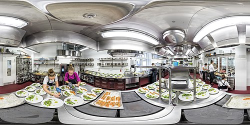 360° view on the kitchen of the training restaurant of the Kehtna Vocational Education Centre