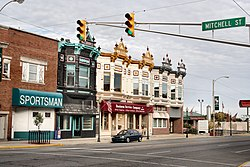 Downtown Kendallville in October 2005.