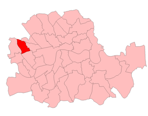Kensington North (UK Parliament constituency) - Kensington North in London from 1950-74