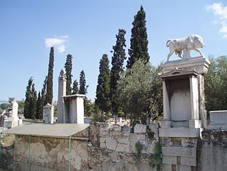 Ancient Greek funeral and burial practices - Funeral monuments from the Kerameikos cemetery at Athens