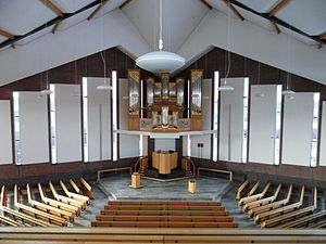 Reformed Congregations - Church interior of a Reformed Congregation (Genemuiden)
