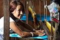 Kesu Magar weaving cloth at a MEDEP supported business, Triyuga Municipality , Bokse, Udayapur, NEPAL. (10706462926).jpg
