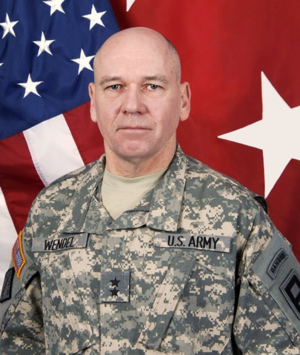 Kevin R. Wendel - Wendel as commander of First Army Division East and interim commander of First United States Army, 2013.