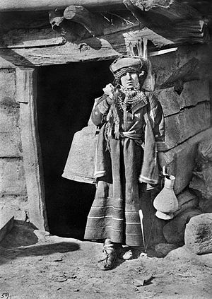 Khevsureti - Khevsur woman. Photo by D.A. Nikitin, 1881.