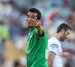 Khodadad Azizi in a charity football match.jpg