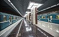 Khovrino (Moscow Metro) with two trains.jpg
