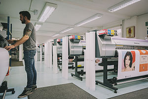 Print on demand - King and McGaw art prints are made on demand at their warehouse in Newhaven, England.