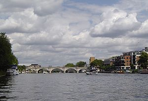 Teddington Lock - Kingston from the river