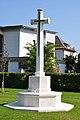 Klagenfurt Waidmannsdorf Lilienthalstrasse War Cemetery marble cross 21092011 401.jpg