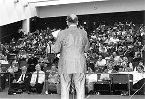 Philip J. Klass - Klass at the 1983 CSICOP Conference in Buffalo, NY
