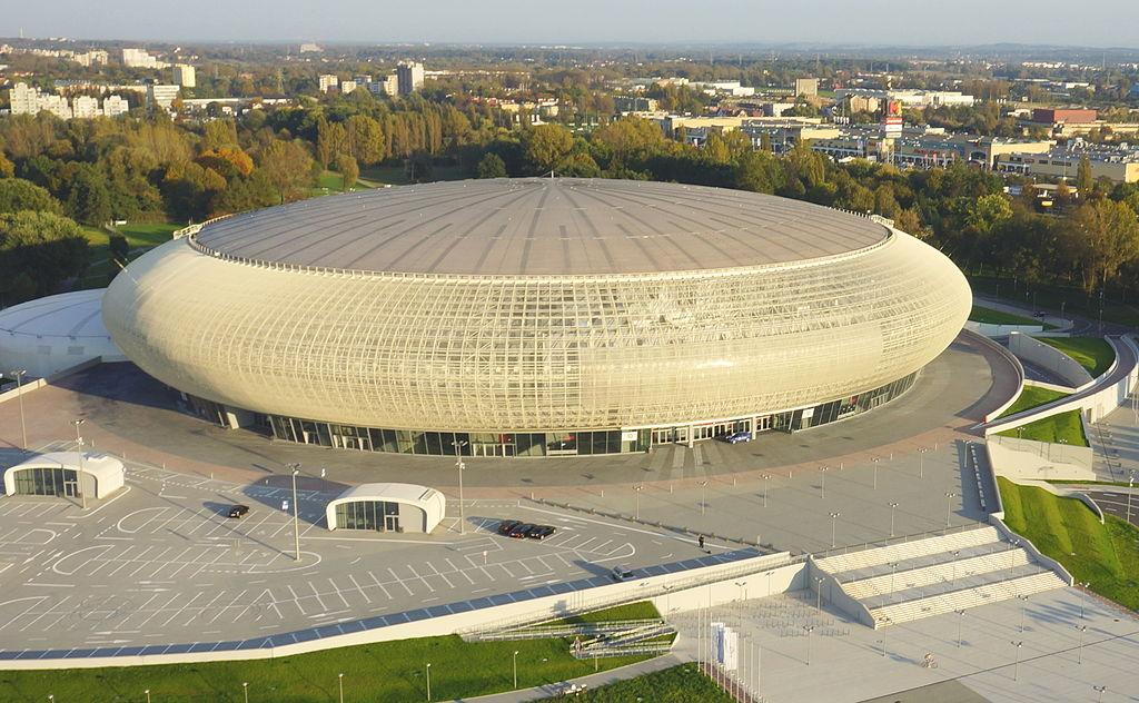Tauron Arena Kraków z lotu ptaka