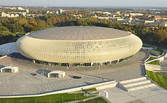 Tauron arena kraków z lotu ptaka polska kraków ul stanisława lema 7