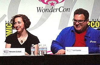 Toy Story 3 - Kristen Schaal and Jeff Garlin, who attended the Toy Story 3 panel at the 2010 WonderCon, joined the cast as Trixie and Buttercup, respectively.