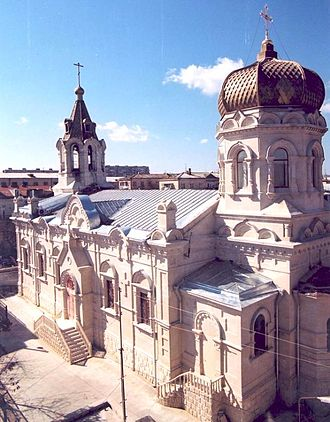 Russians in Azerbaijan - Baku, Russian-Orthodox Holy Myrrhbearers Cathedral.
