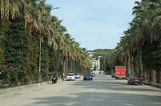 Kuçovë - Image: Kuçovë Main street