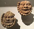 Kucha, frammenti di mascheroni, da subashi est, 590-610 ca.JPG