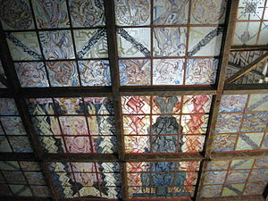 Kunststätte Bossard - Interior view of the roof of the Kunsttempel
