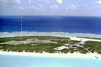 Kure Atoll - The United States Coast Guard LORAN station at Kure in 1971