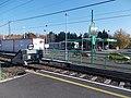 Kvassay híd HÉV Station and MOL petrol station, 2020 Csepel.jpg