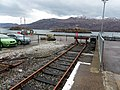 Kyle of Lochalsh railway station, Ross and Cromarty - Platform 2 buffer stops.jpg