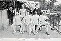L'équipe de France Olympique d'épée, victorieuse de la Grande semaine de l'escrime, début juillet 1908 à Paris, peu avant les JO.jpg