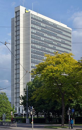 Erich Schelling - High rise Insurance Company building by Schelling, 1963