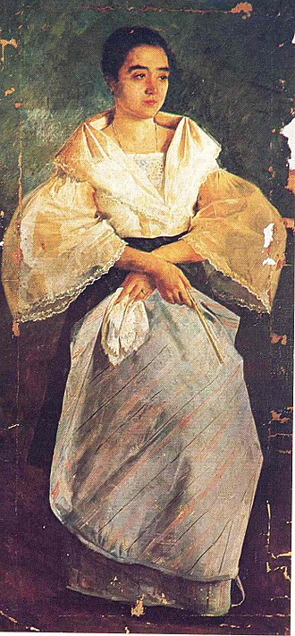 Tagalog people - La Bulaqueña (1895) by Juan Luna depicts a woman from Bulacan, Central Luzon, wearing a traditional María Clara gown.