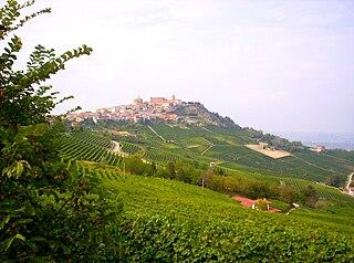 La Morra Comune in Piedmont, Italy