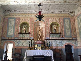 La Purisima Mission - The altar inside La Purisima Mission.