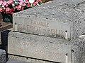 La tombe de Félix Gaffiot, au cimetière de Liesle, Jura.JPG