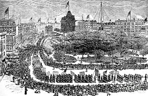 Labor Day Parade, Union Square, New York, 1882...