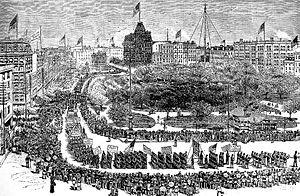 English: Labor Day Parade, Union Square, New Y...