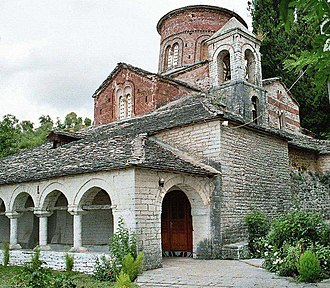 Religion in Albania - The 12th century Orthodox Church in Labova e Kryqit.