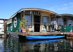 Houseboat - A houseboat on Lake Union in Seattle, Washington, USA