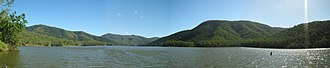 Borumba Dam - A panorama of Lake Borumba