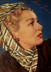 Profile of woman with headscarf, looking to right