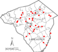 Lancaster County Existing Covered Bridges Dot Map.png