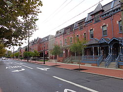 Row houses in Lanning Square