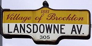 Lansdowne Avenue - A Lansdowne Avenue sign in Brockton Village
