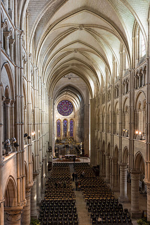 Norman architecture - The nave of Laon Cathedral resembles a Norman arch