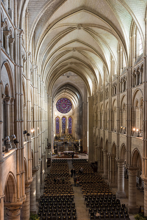 Medieval Interior Of Laon CathedralNotre Dame Picardy France