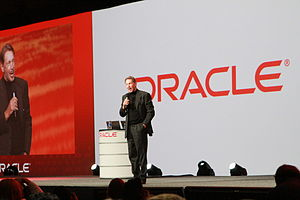 Oracle OpenWorld - Larry Ellison, Oracle's CEO, lecturing at Oracle OpenWorld, San Francisco 2010