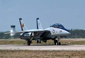 VFA-213 - The last US F-14 to fly a combat mission lands at Naval Air Station Pensacola