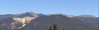 Latir Peak Wilderness - A panorama of the Latir Peak Wilderness from Red River Pass