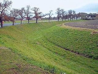 Northern corner ditch