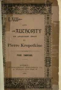 Cubierta de Ley y autoridad, edición inglesa de 1886